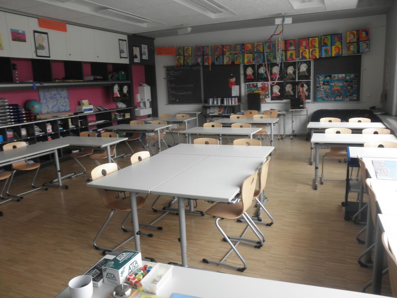 Klassenzimmer im Neubau