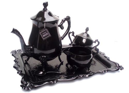 Black teaset