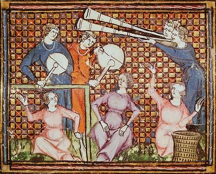 """Chretien Legouais (""""Ovide Moralisé"""" Ms. 1044, folio 103, verso. França, s. XIV)."""