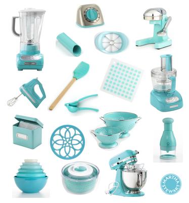 Turquoise Martha Stewart Kitchen goods