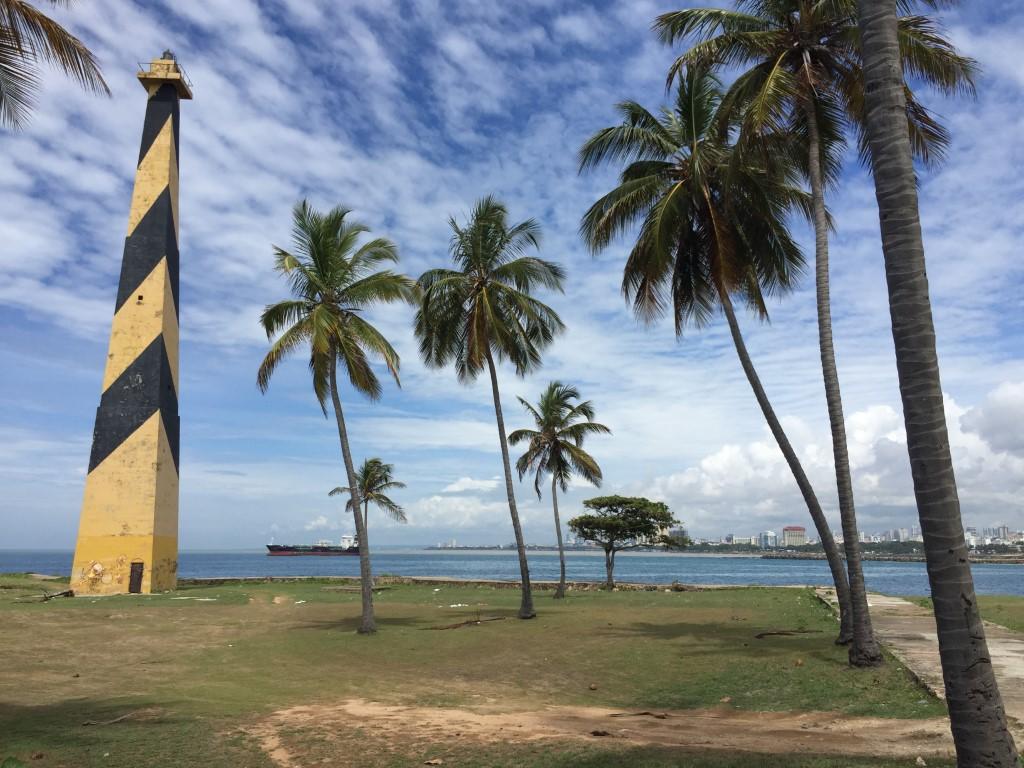 Dom Rep, Dominikanische Republik, Santo Domingo, Promenade, Malecon, Ufer, Punta Torrecillas, Leuchtturm