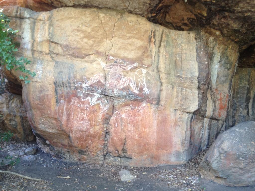 Australien, Northern Territory, Kakadu National Park, Nourlangie, Höhlenmalerei, Aborigines