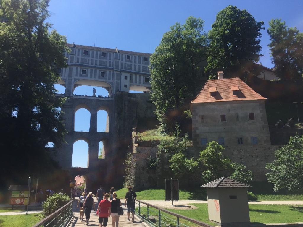 Český Krumlov, Tschechien, Mantelbrücke