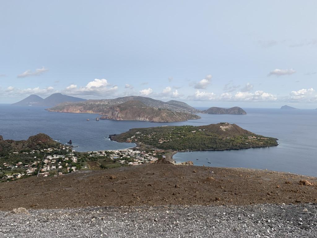 Italien, Sizilien, Liparische Inseln, Äolische, Vulcano, Sehenswürdigkeit, schwarzer Strand, Sandstrand, Vulkan, Schwefel