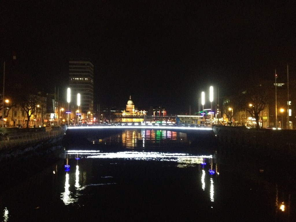 Dublin, nachts, Nacht, Liffey, Fluss