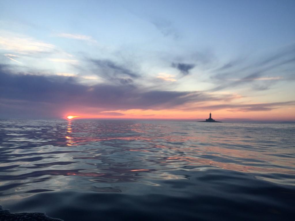 Kroatien, Premantura, segeln, Segeltörn, Medulin, Reisebericht, Reiseblog, Leuchtturm, Sonnenuntergang, Kap, Otocic Porer