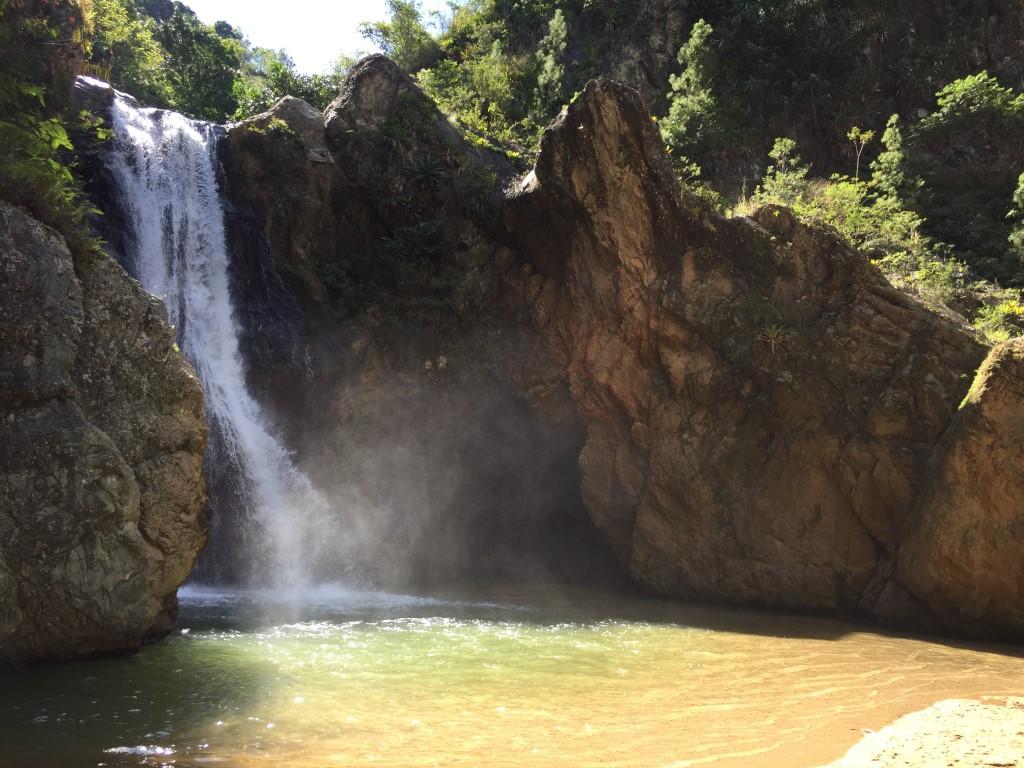 Dom Rep, Dominikanische Republik, Berge, Gebirge, Jarabacoa, Wasserfall Jimenoa
