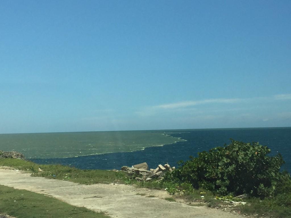Dom Rep, Dominikanische Republik, Santo Domingo, Promenade, Malecon, Ufer, Ozama