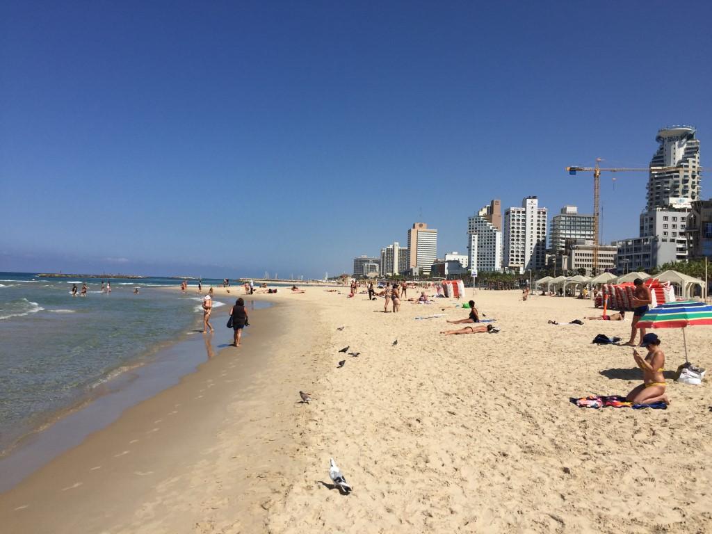 Israel, Tel Aviv, Sandstrand, Strand, Mittelmeer