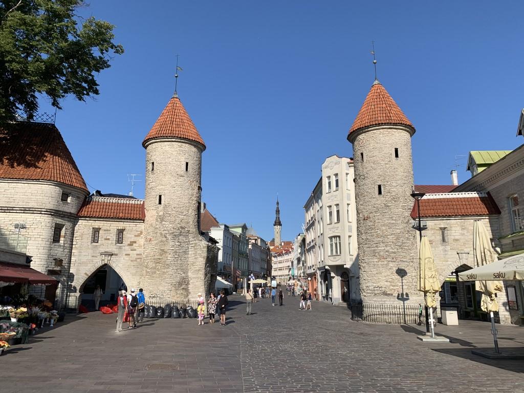 Estland, Tallinn, Reval, Altstadt, Denkmal, Viru Väravad, Lehmpforte