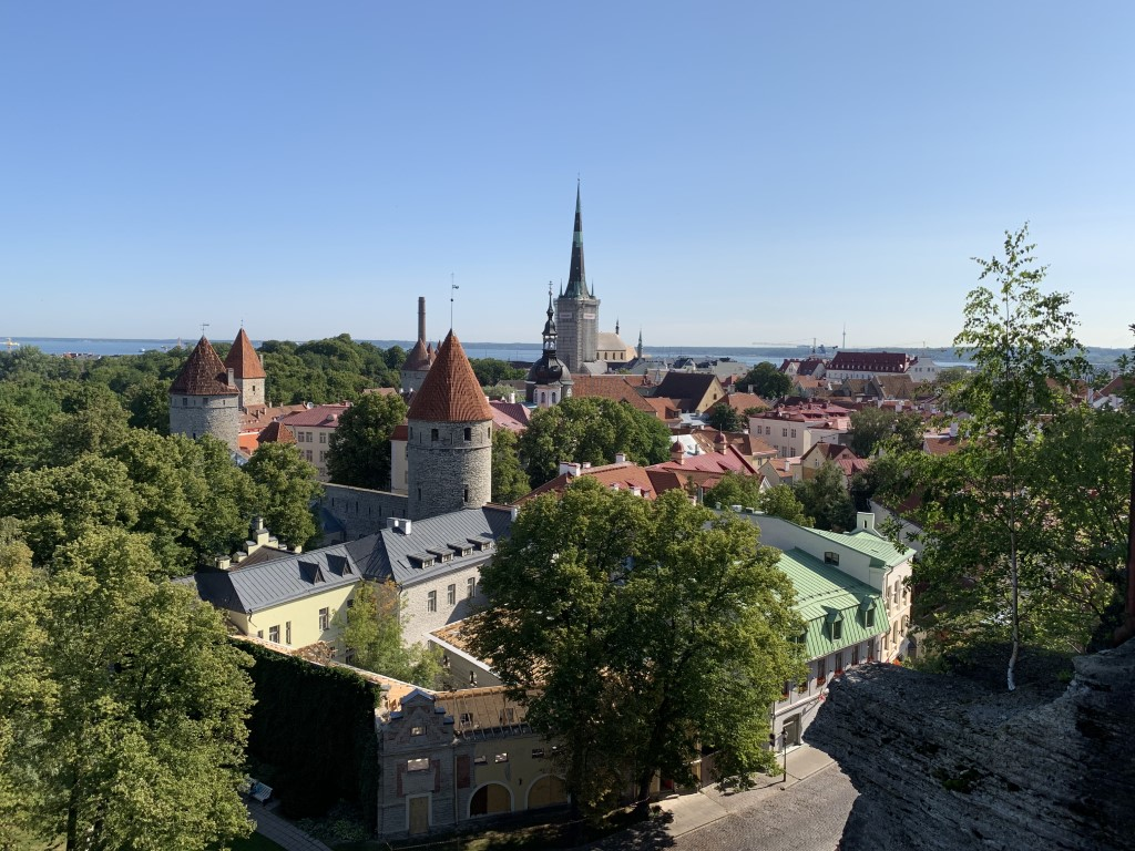 Estland, Tallinn, Reval, Altstadt, Patkuli, Aussichtspunkt, Aussicht, Olaikirche, Stadtmauer, Türme