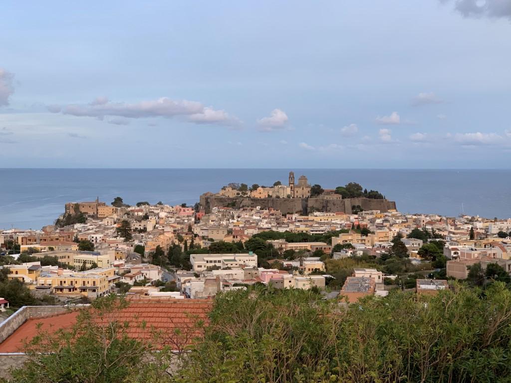 Italien, Sizilien, Liparische Inseln, Äolische, Lipari, Hafen, Burg, Sehenswürdigkeit