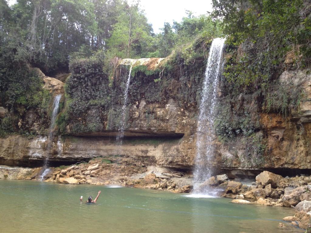 Dom Rep, Dominikanische Republik, Bayaguana, Wasserfall, Salto de Bayaguana