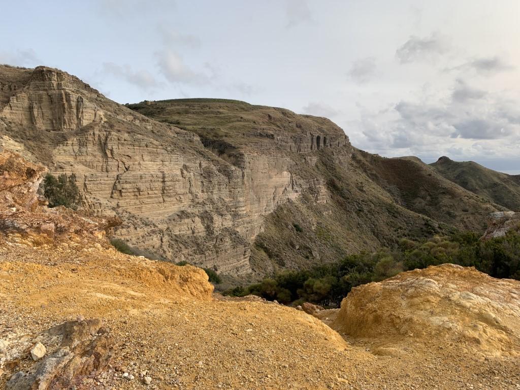 Italien, Sizilien, Liparische Inseln, Äolische, Lipari, Sehenswürdigkeit, Vulkan, Schwefel, Cave de Caolino