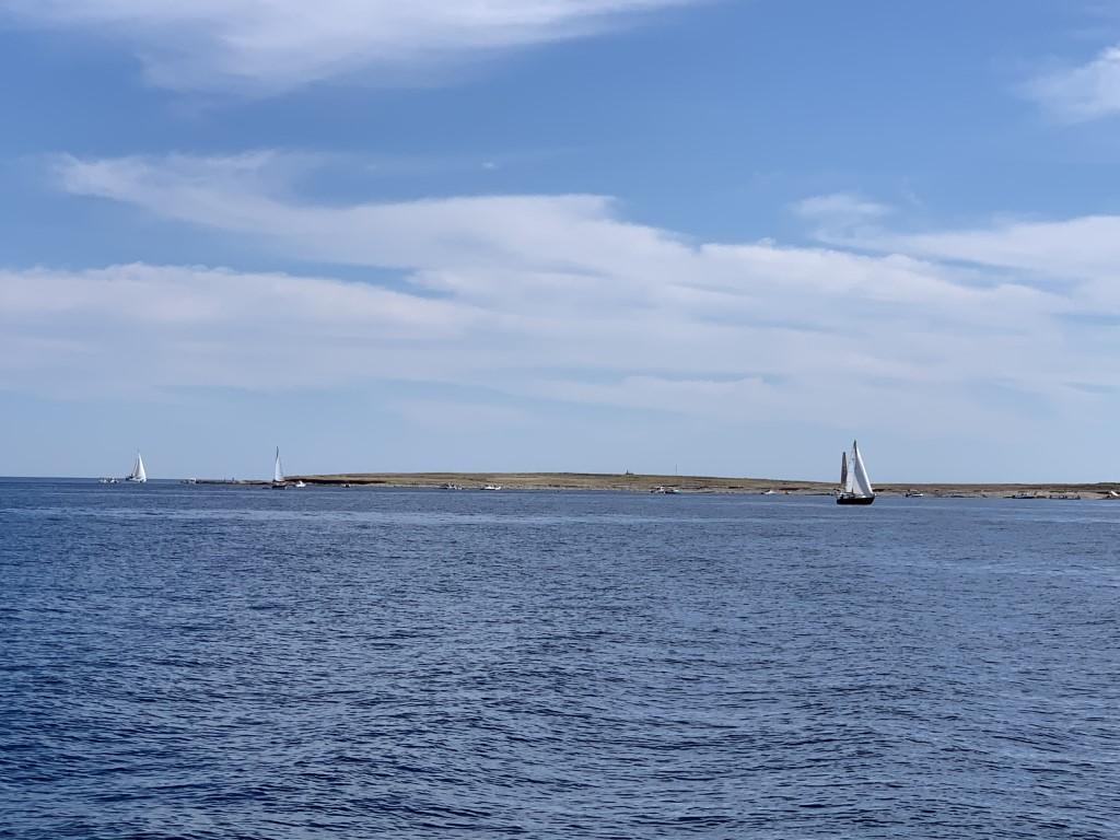 die kleine Insel Otocic Ceja vor uns