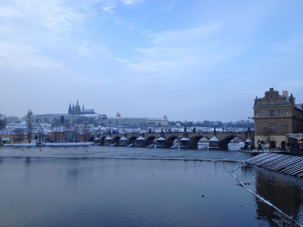 Tschechien, Prag, Karlsbrücke, Moldau, Vltava