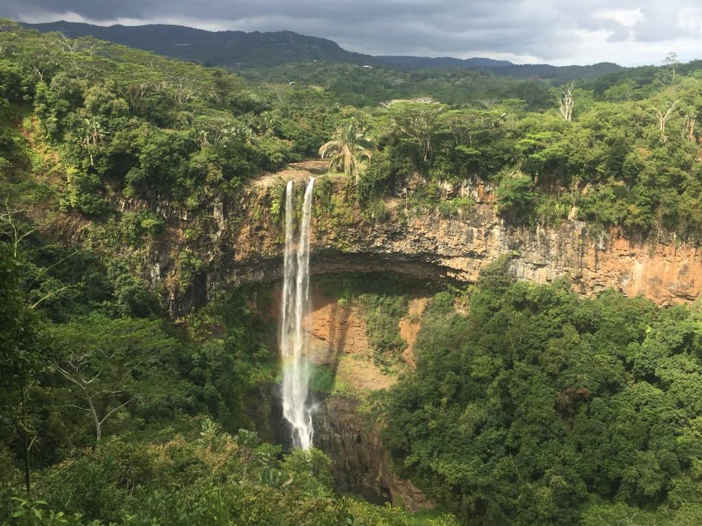 Chamarel Wasserfall, Fallhöhe 100 m