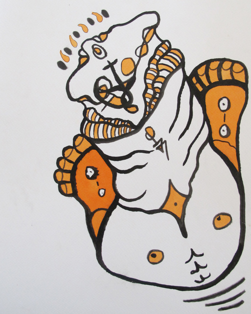 INDIEN SPIRITS 4, 320 X 240 mm, Ink on paper, 2014