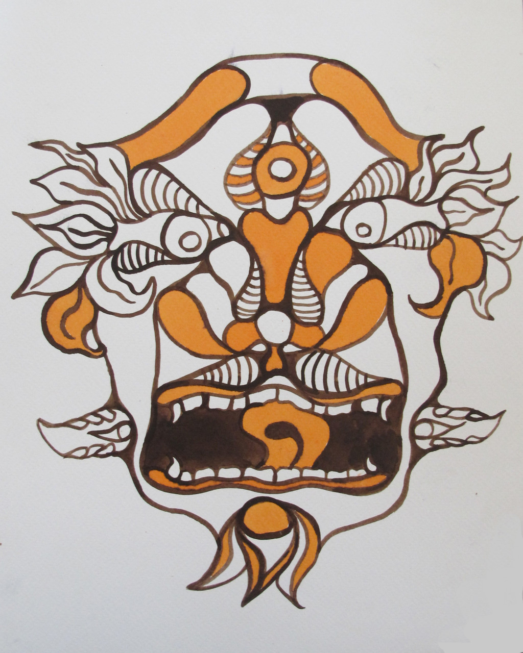 INDIEN SPIRITS 3, 320 X 240 mm, Ink on paper, 2014