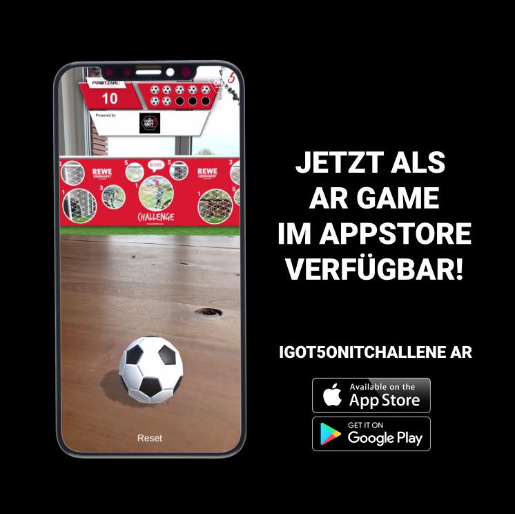#Igot5onitchallenge als Augmented Reality Game im AppStore
