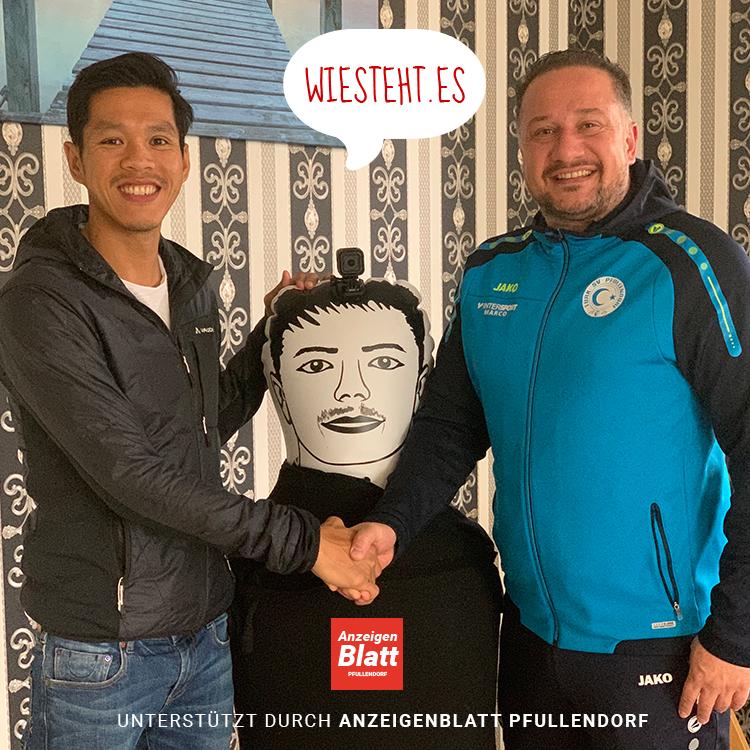 Rechts Hoan Luu (Gründer Wiestehtes) und links Metin Kahveci (Vorstandsschaft des Türk. SV Pfullendorf)