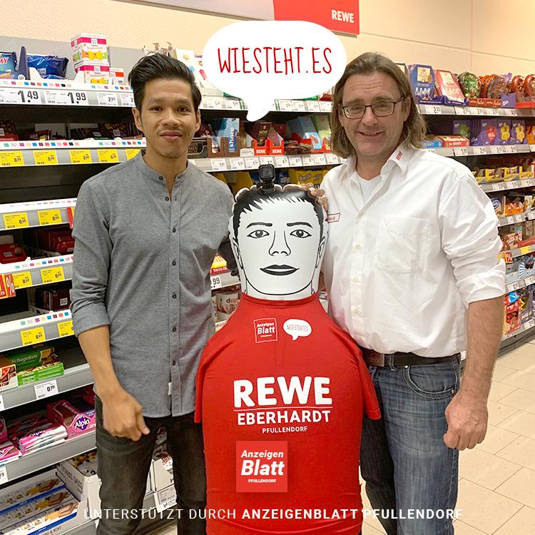 Foto: Links (Hoan Luu Gründer Wiestehtes) und rechts (Kalle Eberhardt Rewe Pfullendorf)