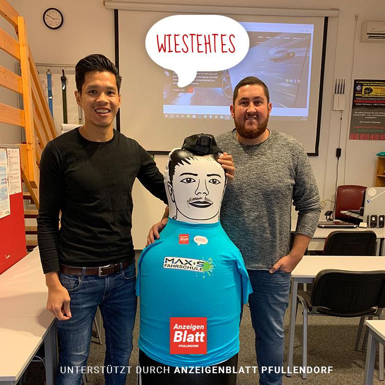 Foto: Links (Hoan Luu Gründer Wiestehtes) und rechts Max Schmauder