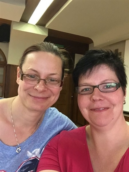 Leiterinnen Cathlen und Irene
