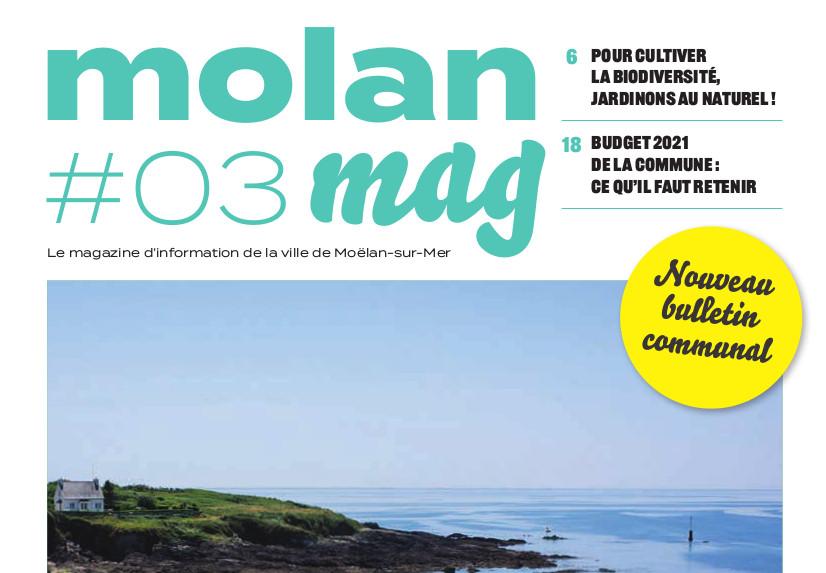 Molan mag, le magazine d'information de la ville de Moëlan-sur-Mer