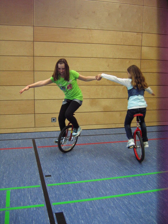 Kreisel beim Einradfahren