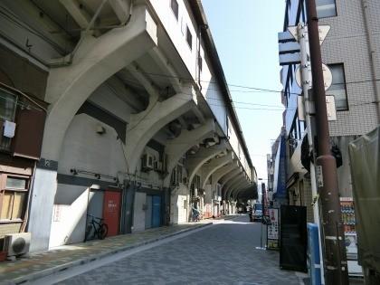 浅草橋駅、道路の上の線路
