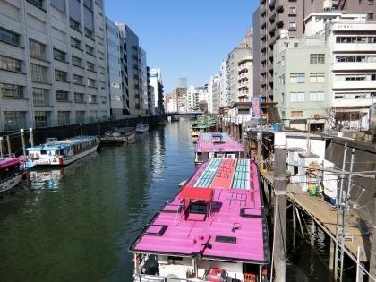 浅草橋見附、屋形船