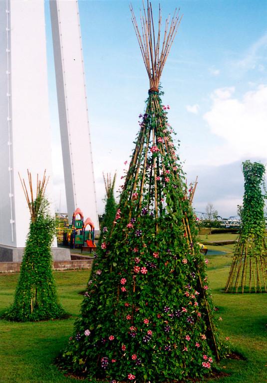 インディアンハウス(国営木曽三川公園・138タワーパーク 1998年)