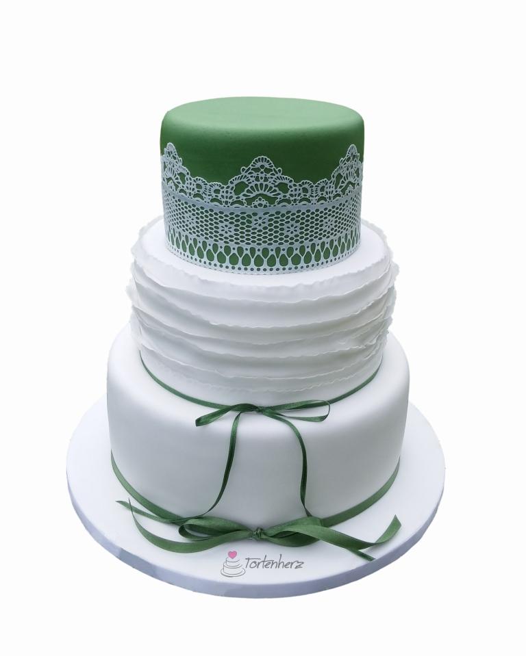 Ruffeld Cake mit Zuckerspitze