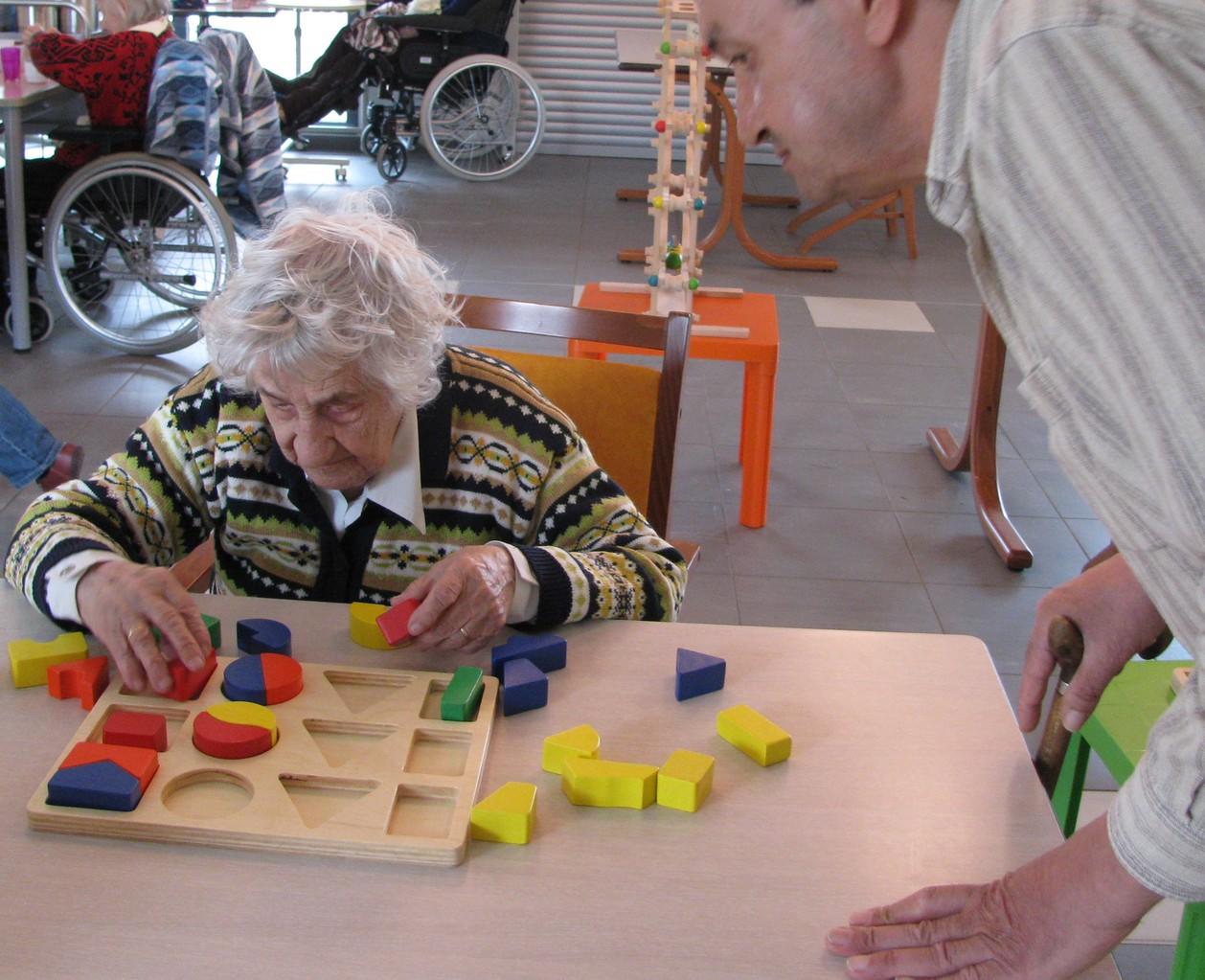 Jeu d'observation, manipulation, association, logique : puzzle forme et couleur en bois
