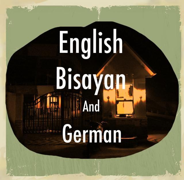 英語とビサヤとドイツ語