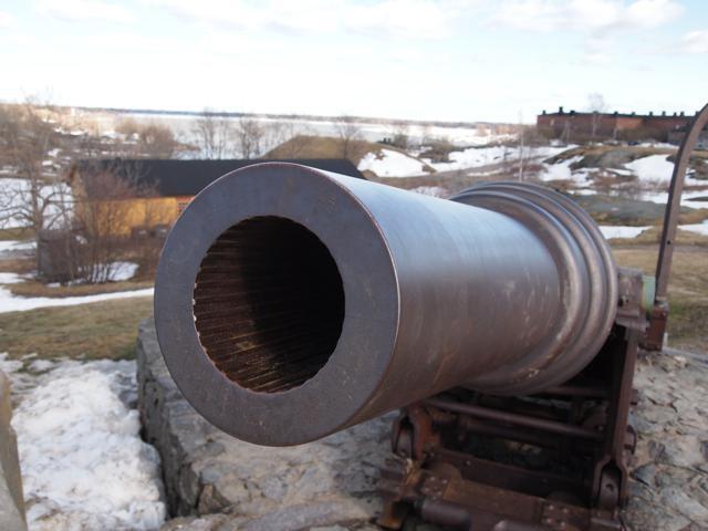 実際に使用されていた砲台