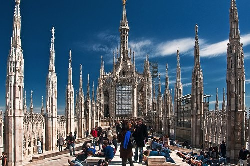 ミラノ大聖堂の尖塔 by vpzone