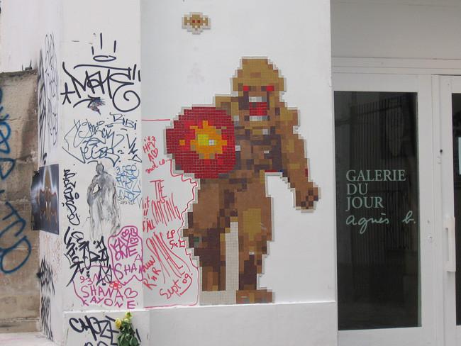パリのモザイクアート