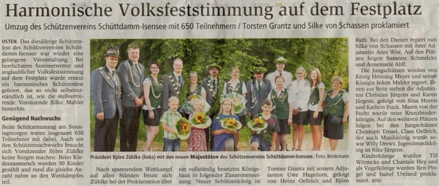 Schützenfest 2013 (Quelle: NEZ 25.07.2013)