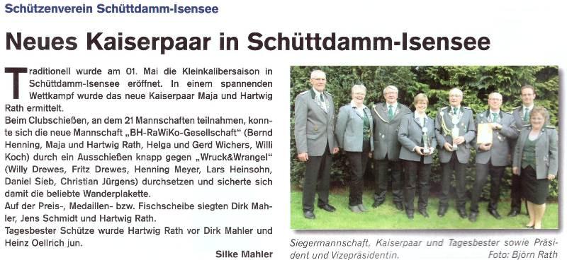 Club- und Kaiserschießen 2017 (Quelle: Hemmoor Magazin, 9. Jahrgang, Nr. 26, August 2017)