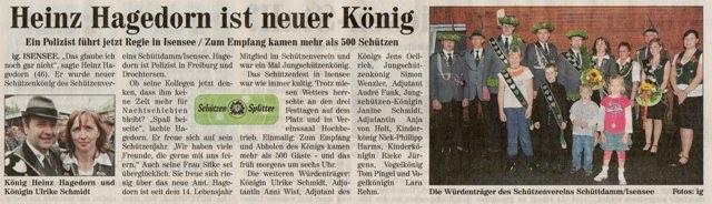 Schützenfest 2008 (Quelle: Neue Stader Wochenblatt 23.07.2008)