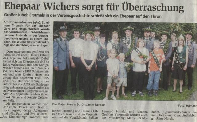 Schützenfest 2007 (Quelle: NEZ 20.07.2007)
