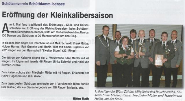 Club- und Kaiserschießen 2014 (Quelle: Hemmoor Magazin, 6. Jahrgang, Nr. 17, Juli 2014)