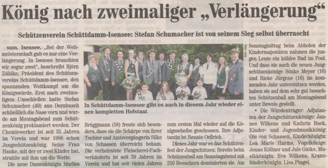 Schützenfest 2014 (Quelle: Neue Stader 30.07.2014)