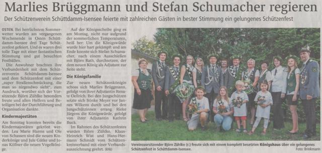 Schützenfest 2014 (Quelle: NEZ 23.07.2014)