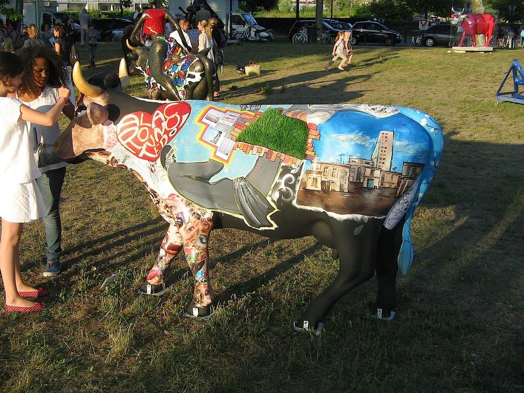 VACH' ART lors du vernissage Parc aux Angéliques