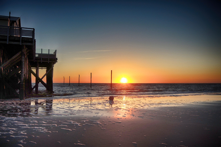 Sonnenuntergang in St. Peter-Ording