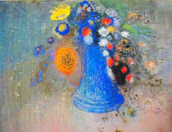 オディロン・ルドン「青い花瓶の花々」1904年頃、岐阜県美術館
