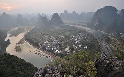 桂林風景区、興坪